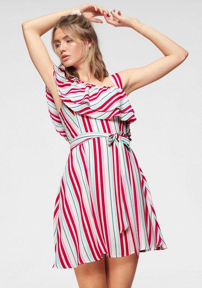 Pepe Jeans One-Shoulder-Kleid »ALLEGRA« mit bunten Streifen | Bekleidung > Kleider > One Shoulder-Kleider | Bunt | Pepe Jeans