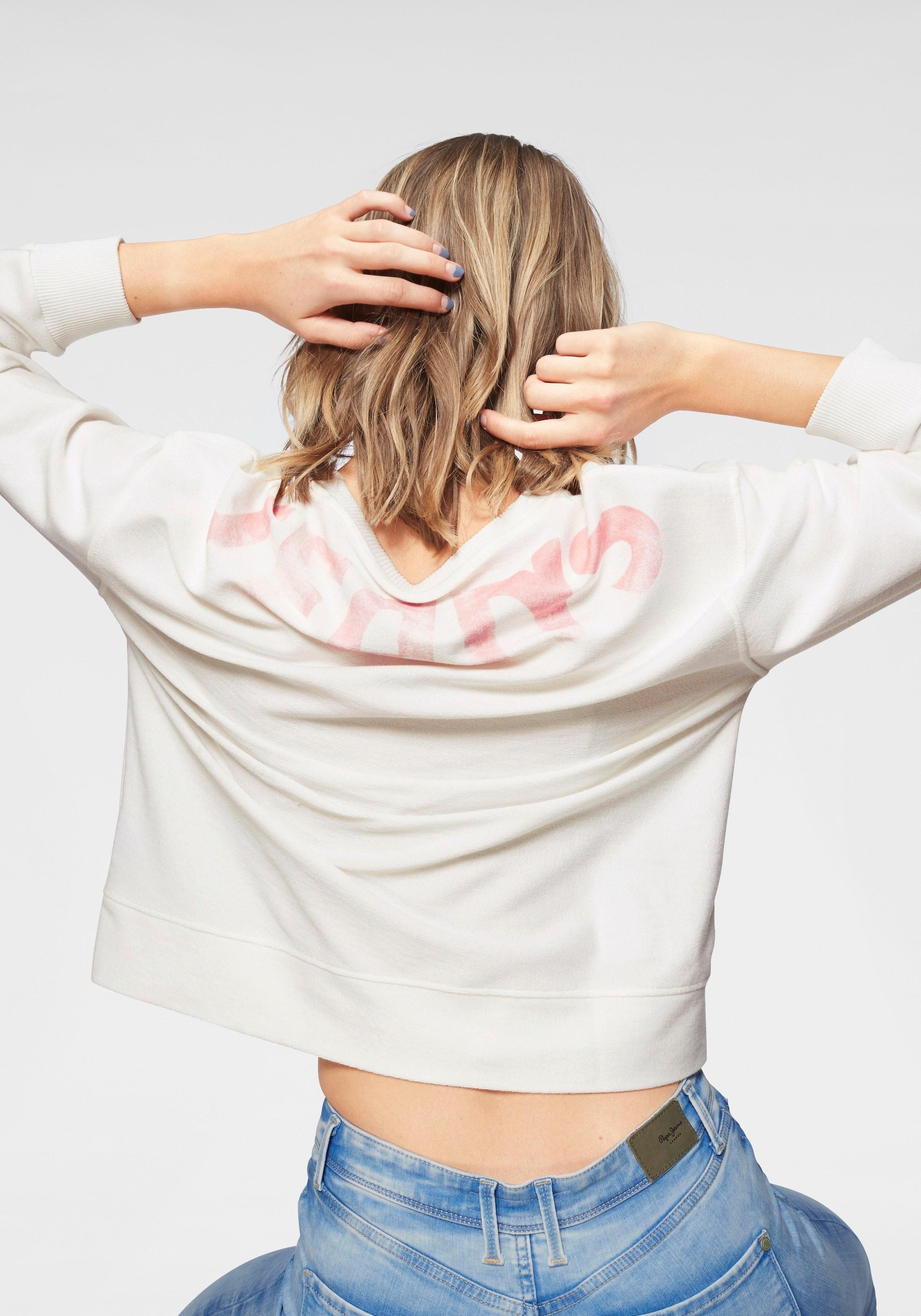 Logoprint Jeans Pepe Sweatshirt Mit Farbigen »primrose« wgRYqfT