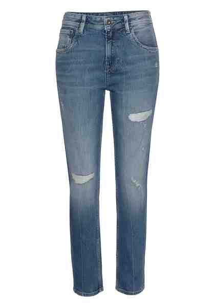 Pepe Jeans Mom-Jeans »VIOLET« High-Waisted mit Used-Effekten