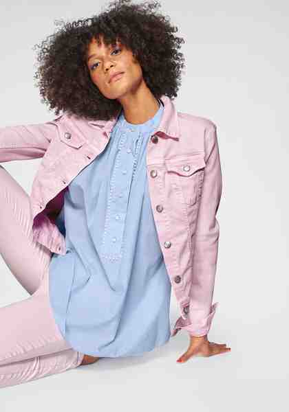 Replay Jeansjacke im Trend Pastell