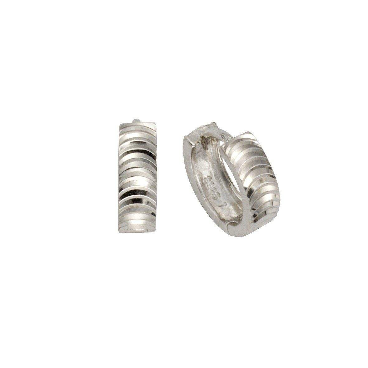 Firetti Klappcreolen »925/- Sterling Silber rhodiniert 13mm«