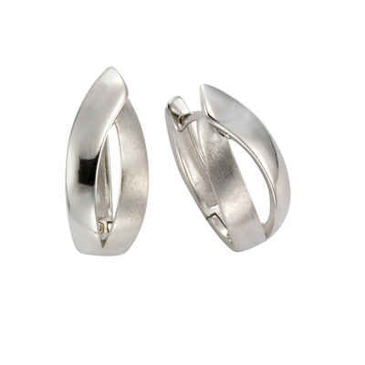 Sterling Silber 2,0cm Damen Matt//Glanz NEU Celesta Klappcreolen 925//