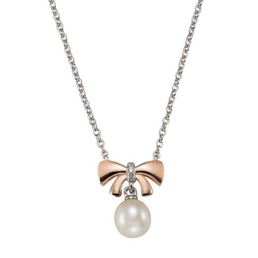 Vivance Collier »925-/ Sterling Silber Perle Zirkonia«