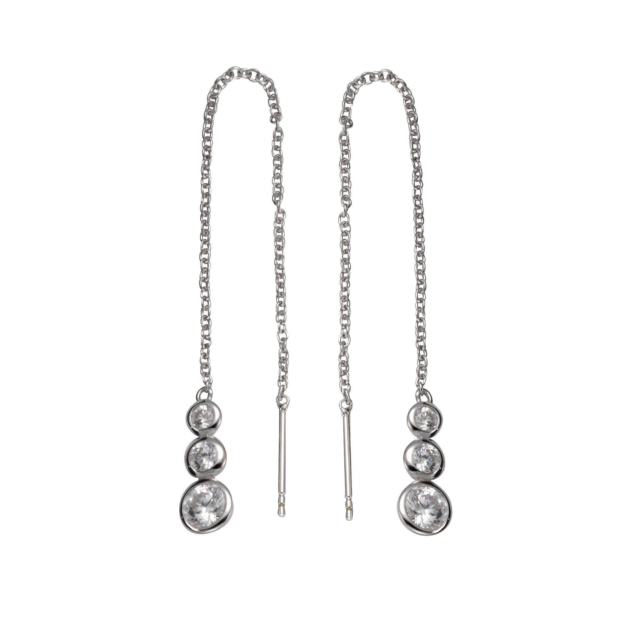 Firetti Durchzieh-Ohrringe »925/- Silber 6x Zirkonia«