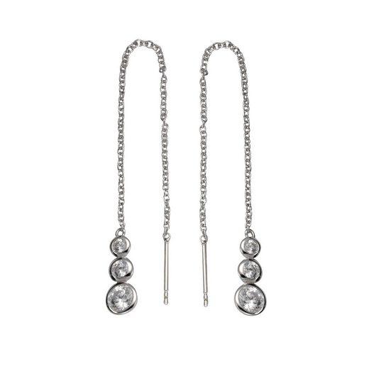 Vivance Durchzieh-Ohrringe »925/- Silber 6x Zirkonia«