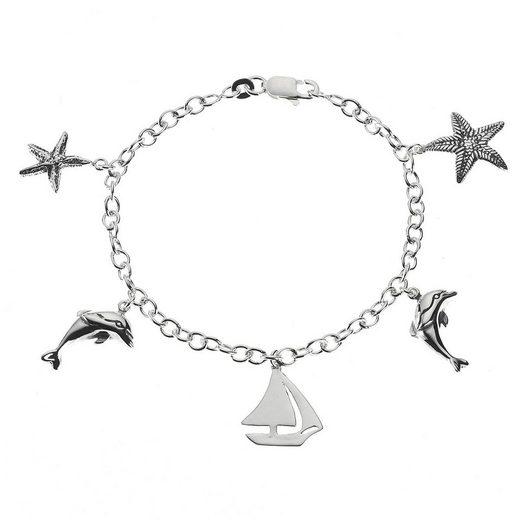 VIVANCE Armband »925/- Sterling Silber rhodiniert«