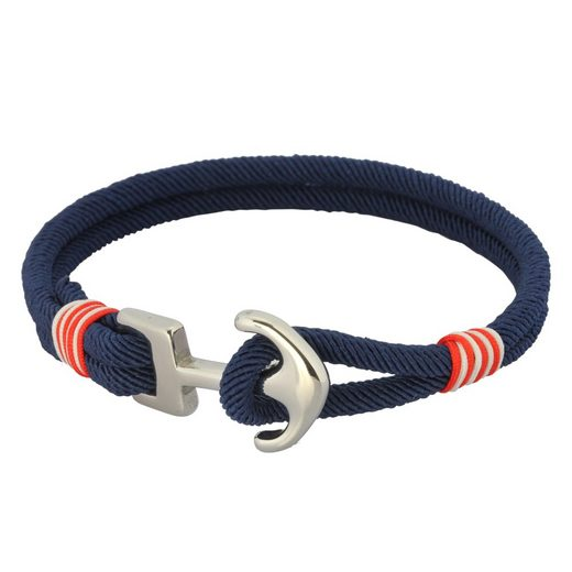 Vivance Armband »Textil Anker Stahl«