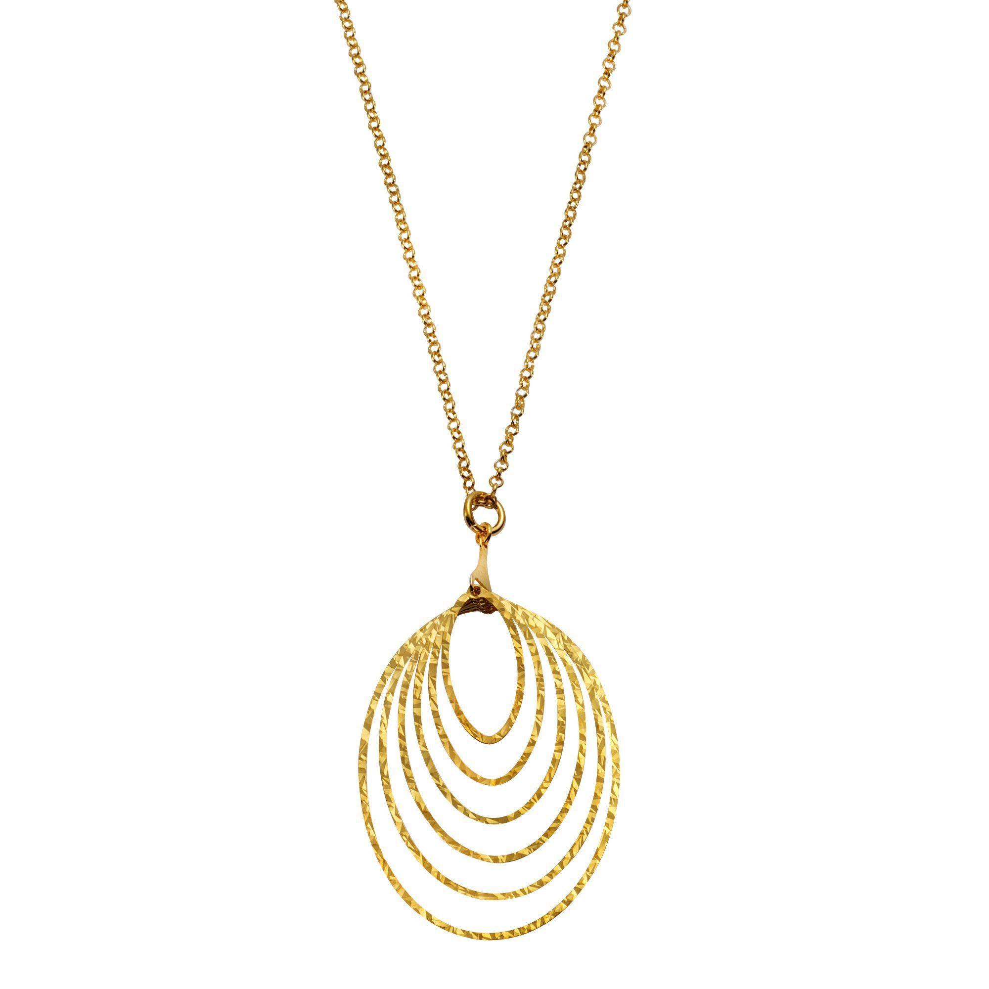 Firetti Anhänger mit Kette »925/- Sterling Silber vergoldet«