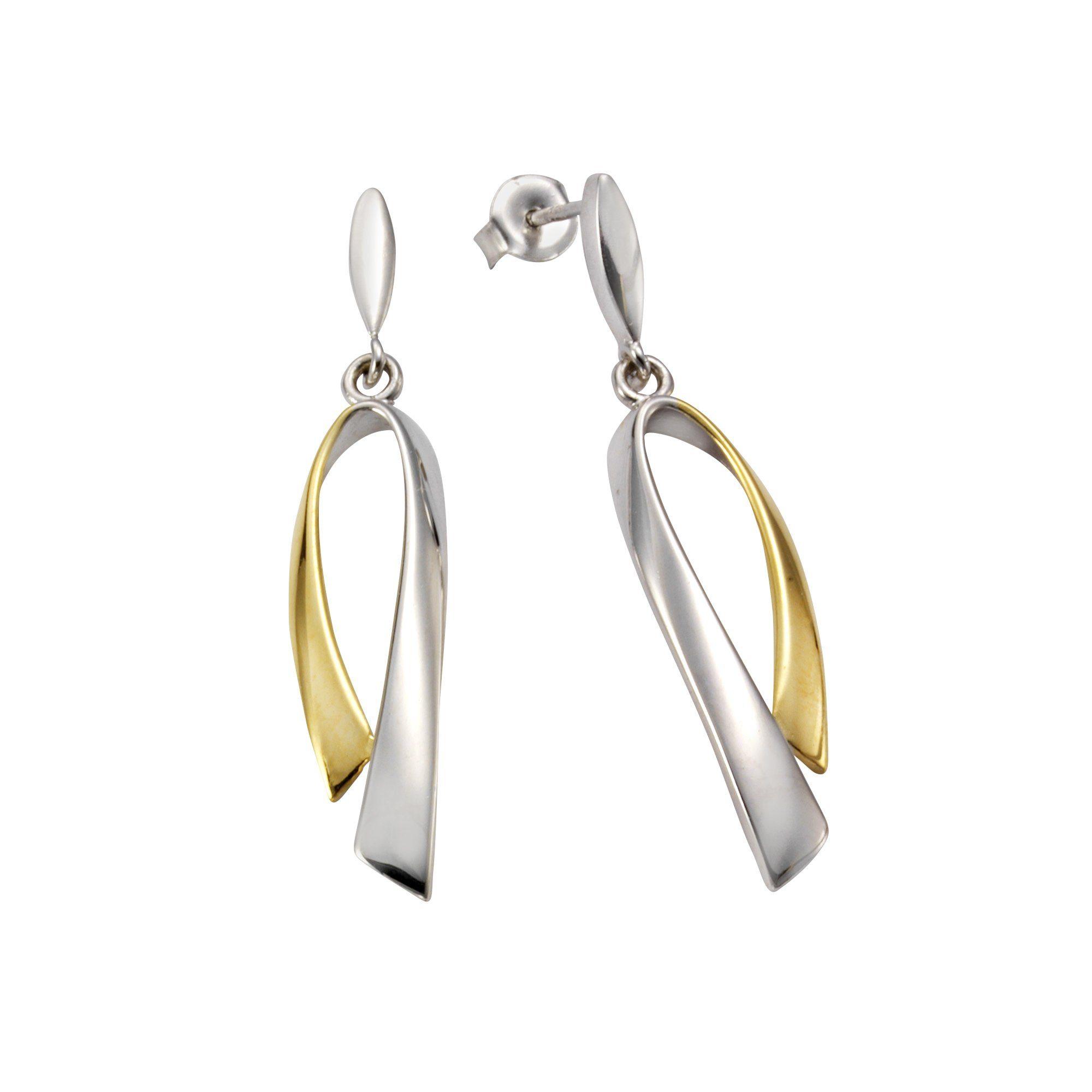 VIVANCE Ohrstecker »925/- Sterling Silber bicolor«