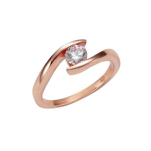 Vivance Ring »925-/ Sterling Silber rotvergoldet Zirkonia«
