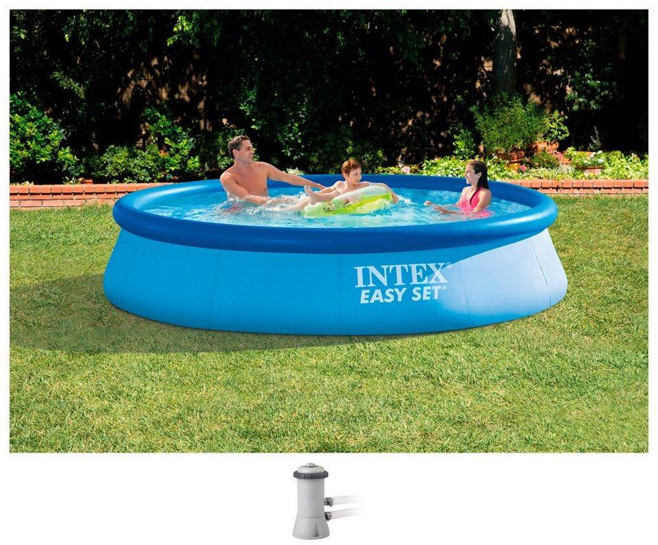 Intex set rundpool easy set pools 2 tlg xh 366x76 for Gunstige poolsets