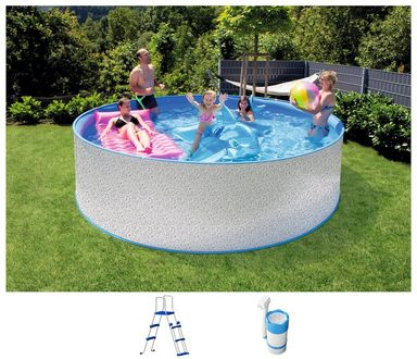 STEINBACH Set: Rundpool »New Splasher Secure«, 3-tlg., ØxH: 350x90 cm