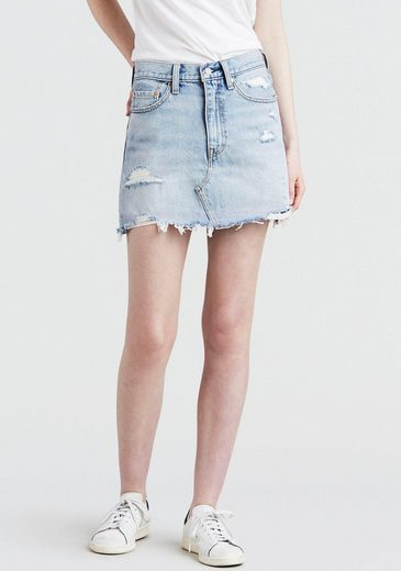 Levi's® Jeansrock »high rise Iconic Skirt« Jeansrock mit Fransen und hoher Taille