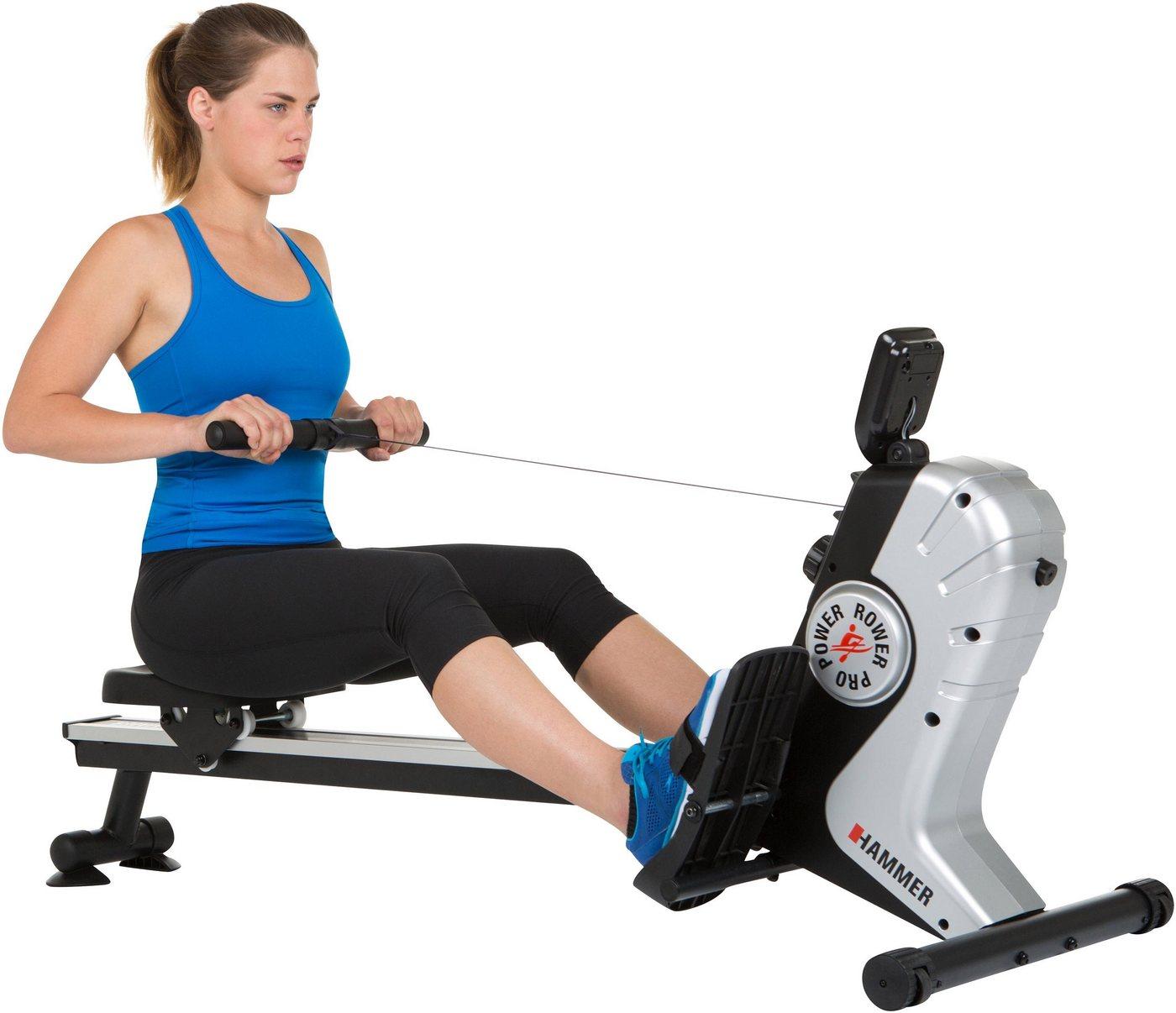 unisex Hammer Rudergerät »Power Rower Pro« silberfarben  Heimsport
