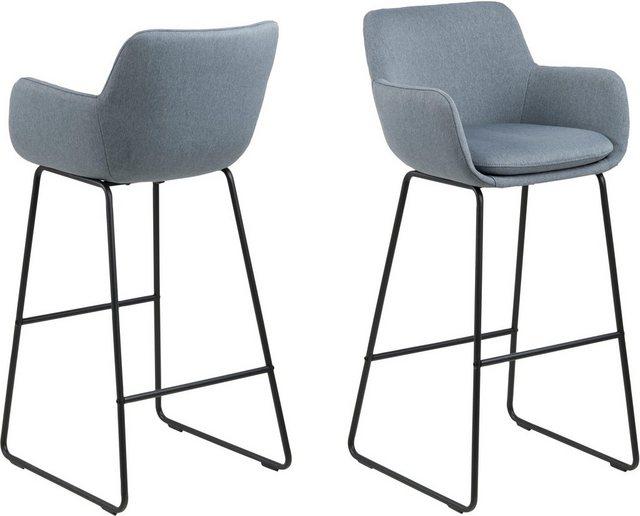 Barmöbel - andas Barhocker »Lene« (Set, 2 St), aus einem schönen Webstoff Bezug, mit einem Metallgestell, Sitzhöhe 76 cm  - Onlineshop OTTO