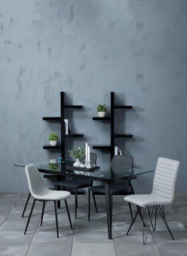 andas Stuhl »Willy« 4er-Satz aus schönem Webstoff, in unterschiedlichen Farbvarianten mit verschiedenen Stuhlbeinen, Sitzhöhe