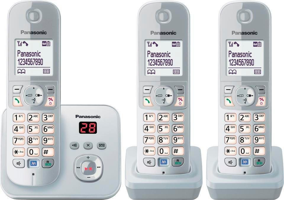 panasonic kx tg6823g trio schnurloses dect telefon. Black Bedroom Furniture Sets. Home Design Ideas