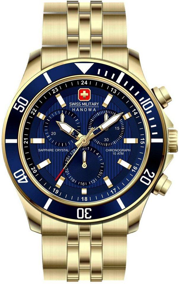Swiss Military Hanowa Chronograph »FLAGSHIP CHRONO, 06-5183.7.02.003« | Uhren > Chronographen | Goldfarben | Swiss Military Hanowa