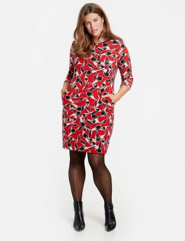 SAMOON Kleid Langarm kurz »Jerseykleid mit Print«   OTTO