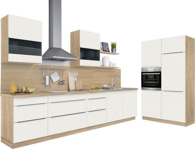 set one by Musterring Küchenzeile »Melle Premium«, ohne E-Geräte, Breite 330 cm, vormontiert