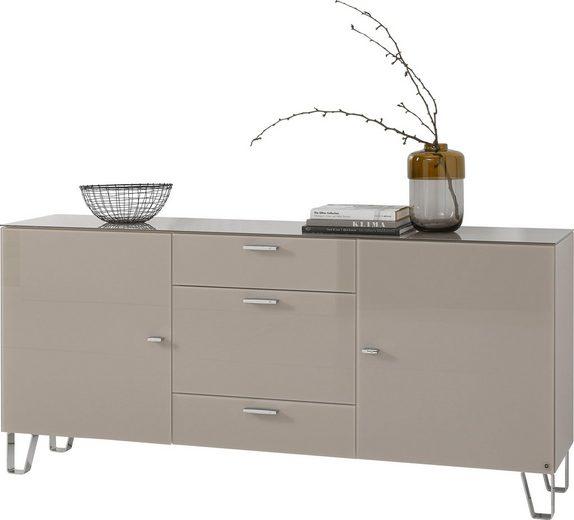 LEONARDO living Sideboard »CUBE« auf Designfüßen, mit 2 Türen und 3 Schubladen, Breite 189 cm