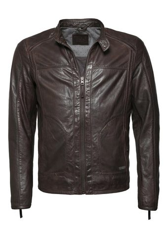Куртка кожаная в спортивный стиль &raq...
