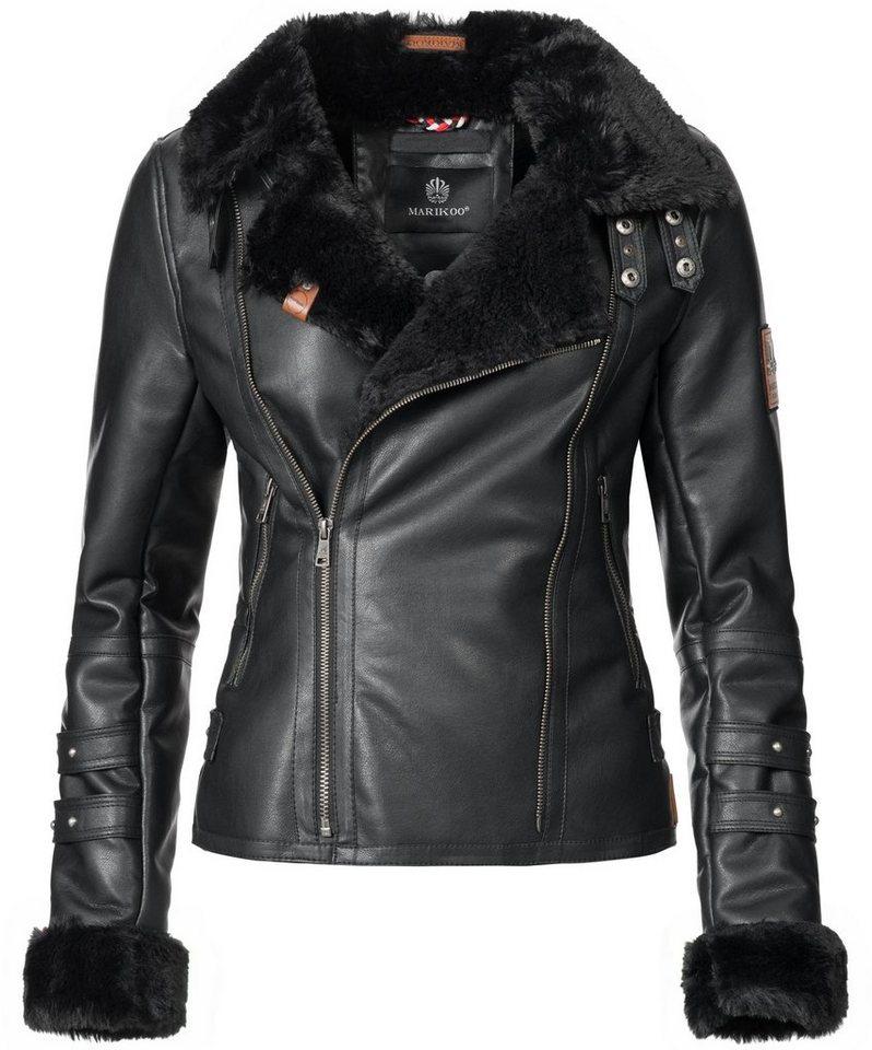 sale retailer a70d0 6c429 Marikoo Winterjacke »Kokoo« rockige gefütterte Kunstlederjacke für den  Winter online kaufen | OTTO