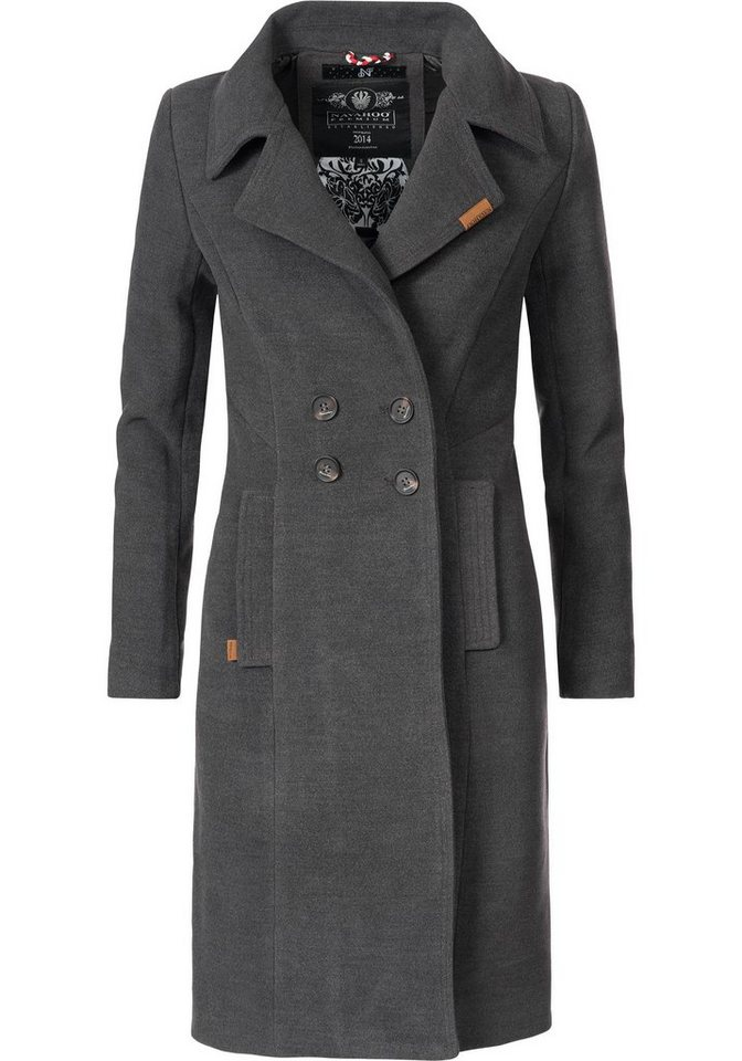 5b36b324ad0d2e Navahoo Wintermantel »Wooly« edler Damen Trenchcoat in Wollmantel ...
