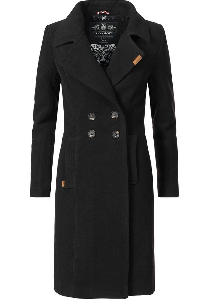 a0dccdc00d98 Navahoo Wintermantel »Wooly« edler Damen Trenchcoat in Wollmantel ...