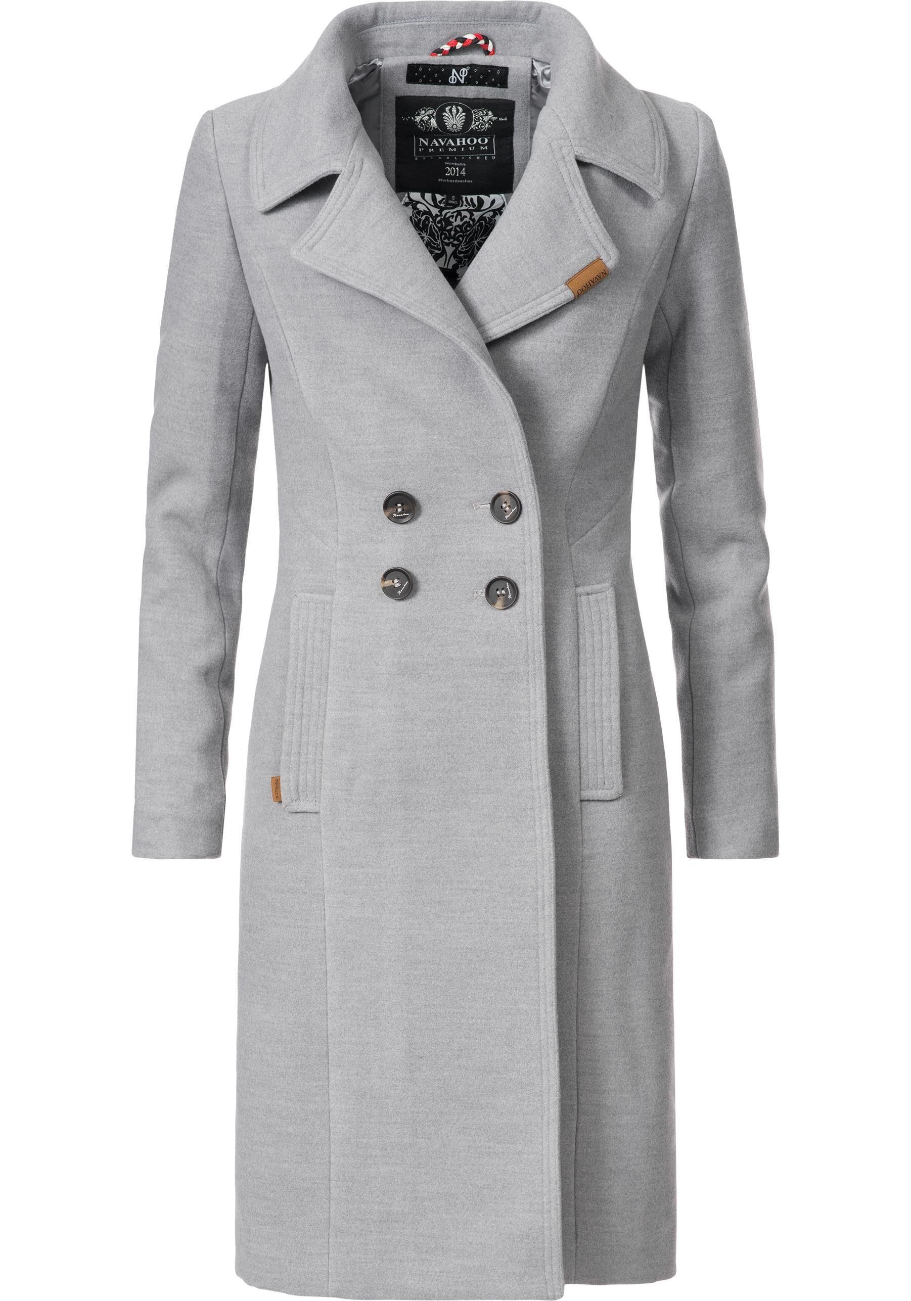Navahoo Wintermantel »Wooly« edler Damen Trenchcoat in Wollmantel Optik online kaufen   OTTO