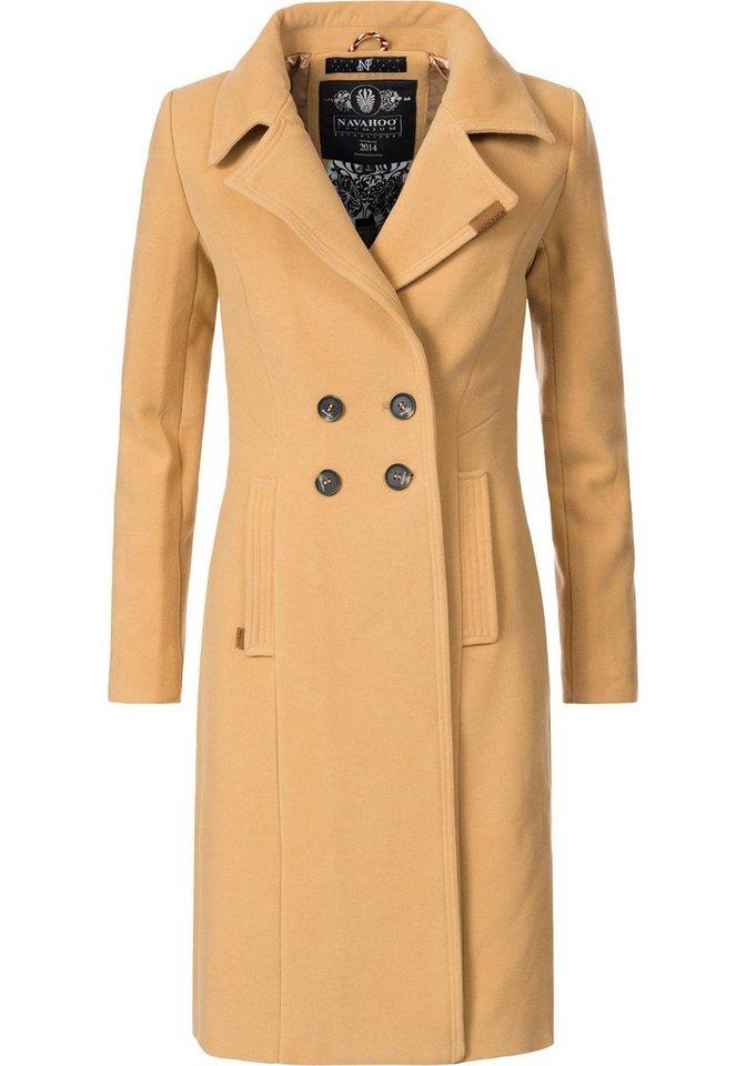 Damen Navahoo  Wintermantel Wooly edler Damen Trenchcoat in Wollmantel-Optik  | 04059072291027