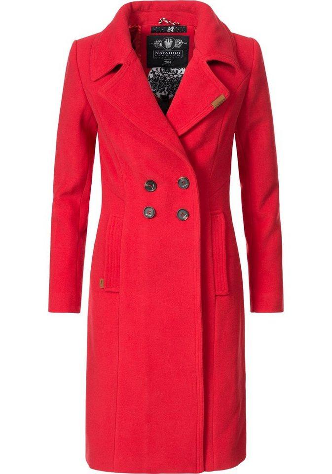 6ec4587e3224 Navahoo Wintermantel »Wooly« edler Damen Trenchcoat in Wollmantel-Optik