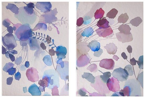 Art for the home Leinwandbild »Expressive Blooms«, Blumen (2 Stück)