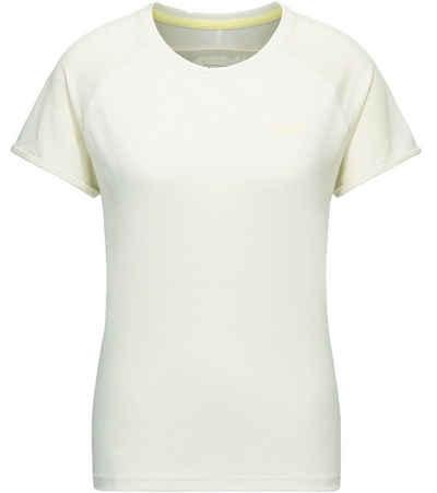 PYUA T-Shirt »PYUA Skip T-Shirt funktionales Freizeit-Shirt Fitness-Shirt mit Mesh-Einsätzen Weiß/Gelb«