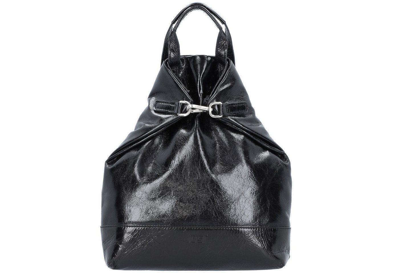 Damen Jost Boda X-Change City Rucksack Leder 30 cm schwarz | 04025307742879