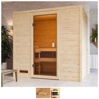 Karibu Sauna »Sunie«, BxTxH: 195 x 145 x 187 cm, 38 mm, ohne Ofen