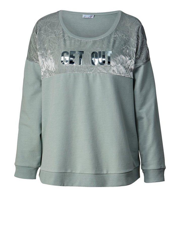 effaa58a65 Angel of Style by Happy Size Sweatshirt mit Frontprint, Lockere ...