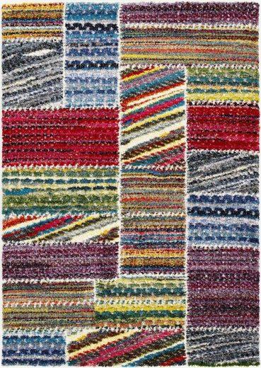 Hochflor-Teppich »Sixteen Field«, OCI DIE TEPPICHMARKE, rechteckig, Höhe 25 mm