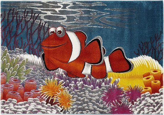 Kinderteppich »Kidsclub Memo«, OCI DIE TEPPICHMARKE, rechteckig, Höhe 13 mm, Aquarium Fisch, Kinder Kurzflor Teppich
