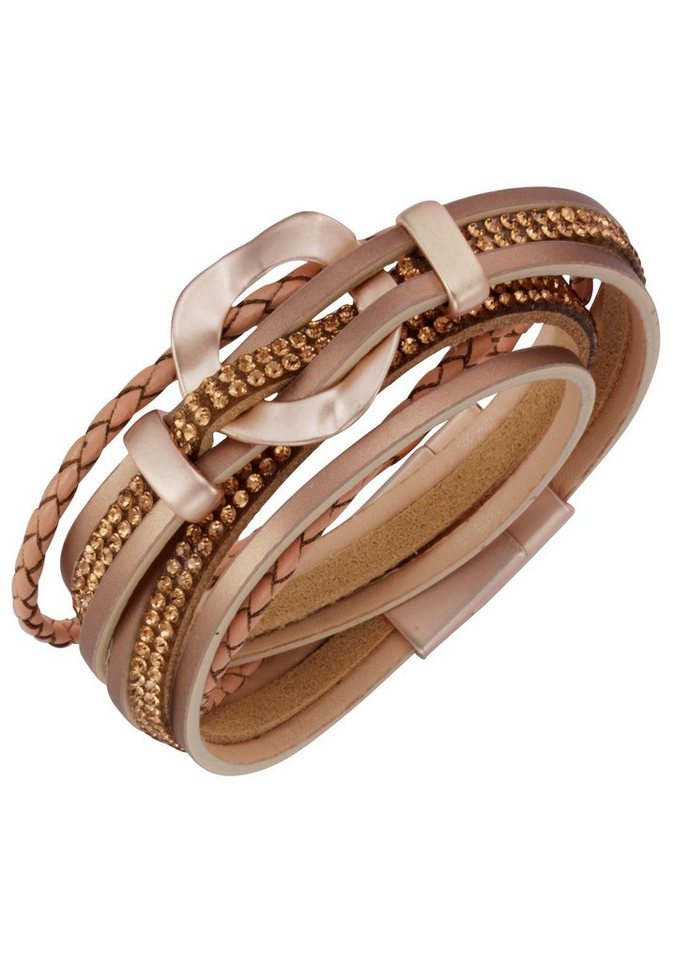 J.Jayz Armband »zum Wickeln, lässig und edel« mit Strassteinen   Schmuck > Armbänder > Wickelarmbänder   Rosa   J.Jayz