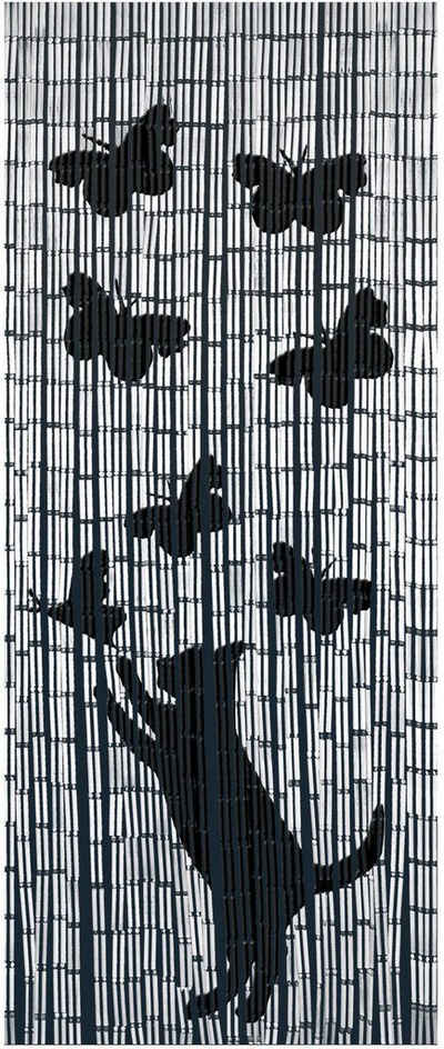 Türvorhang »Katze&Schmetterling«, WENKO, Hakenaufhängung (1 Stück)