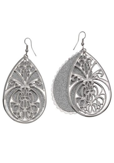 J.Jayz Paar Ohrhaken »Tropfen mit Ornamente«