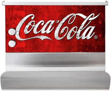 WENKO Wandrollenhalter »Coca-Cola Classic«, Edelstahl, Glas, magnetisch, mit Ablage