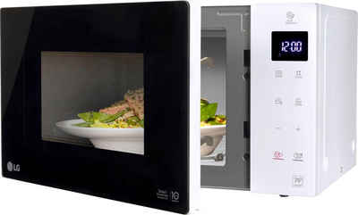 LG Mikrowelle MS 23 NECBW, Mikrowelle, 23 l, Smart Inverter Technologie, echte Glasfront