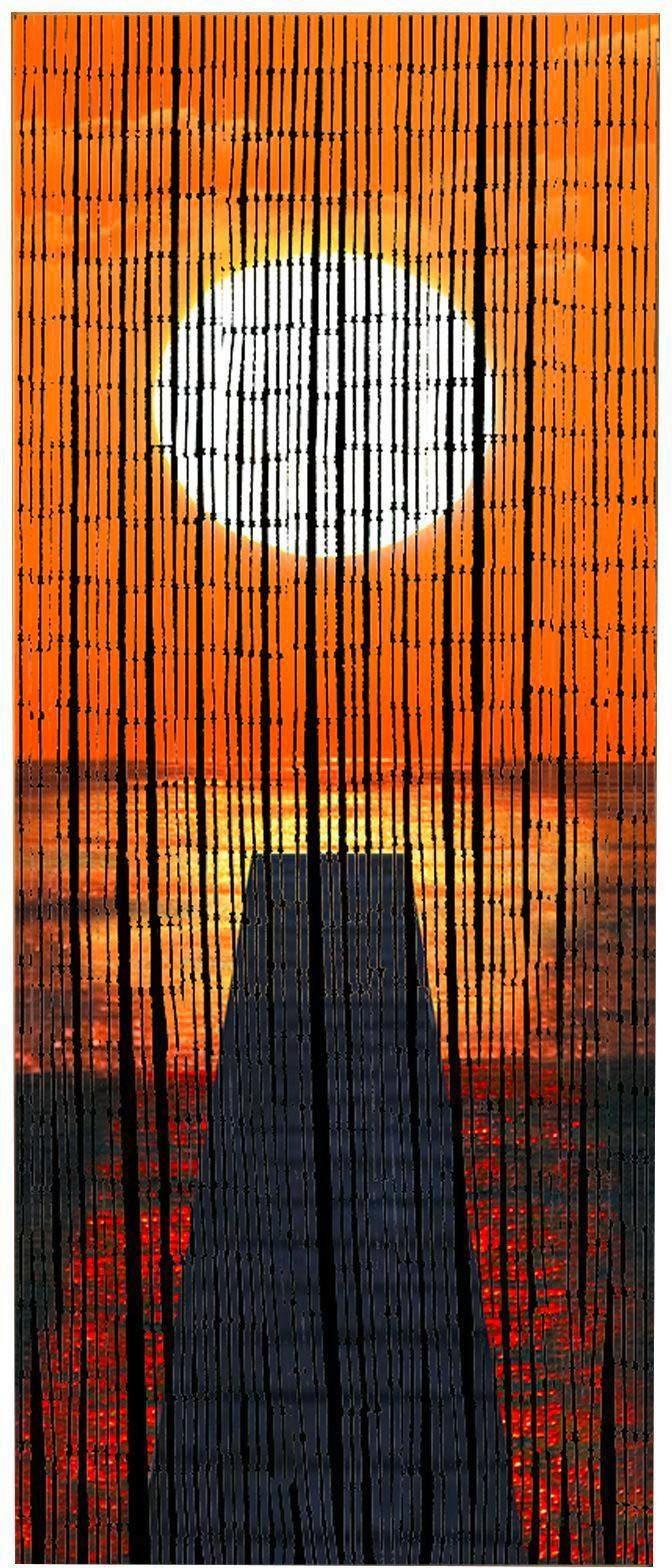 WENKO Bambusvorhang für Balkon oder Terrasse, »Sonnenuntergang«