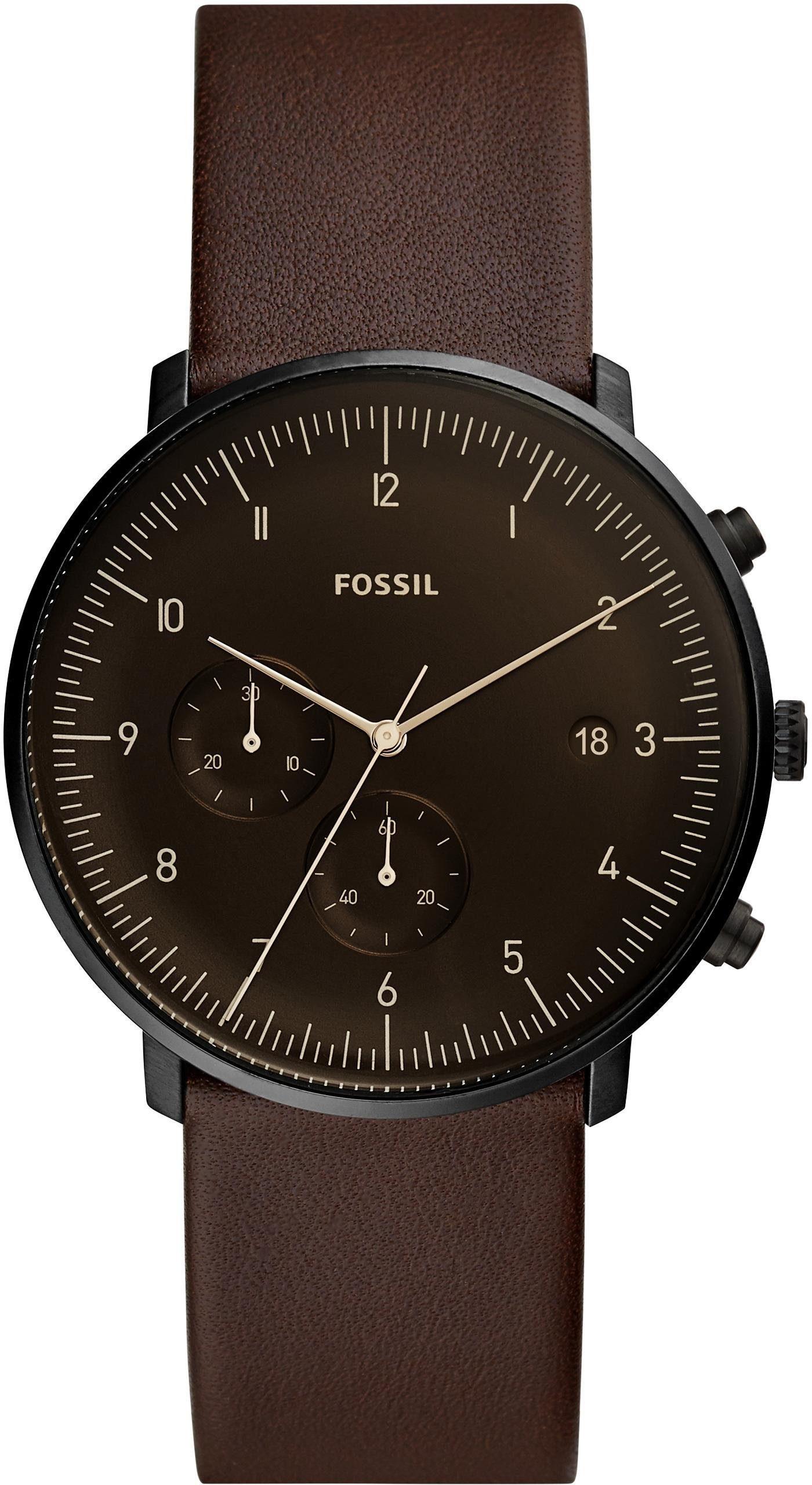 Fossil Chronograph »CHASE TIMER, FS5485« mit bernsteinfarbenem Mineralglas
