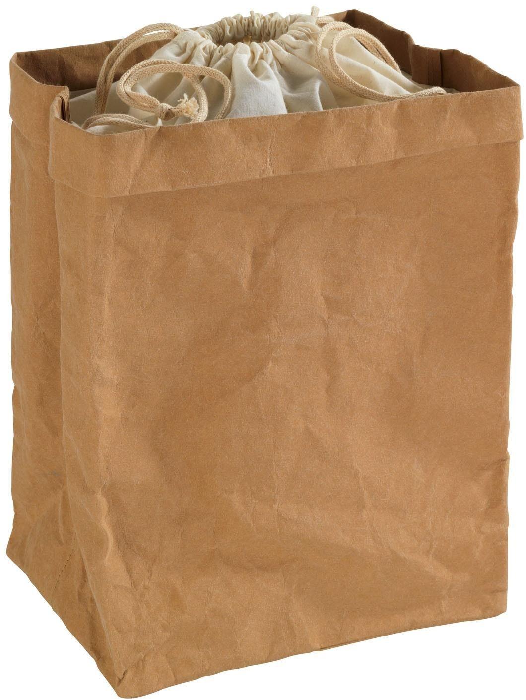 WENKO Aufbewahrungstüte aus Papier mit Stoffbeutel, für die lichtgeschützte/atmungsaktive Lagerung