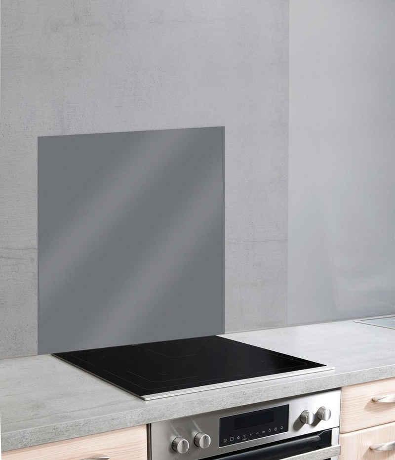 WENKO Küchenrückwand »Unifarben«, (1-tlg), unifarbene Glasrückwand