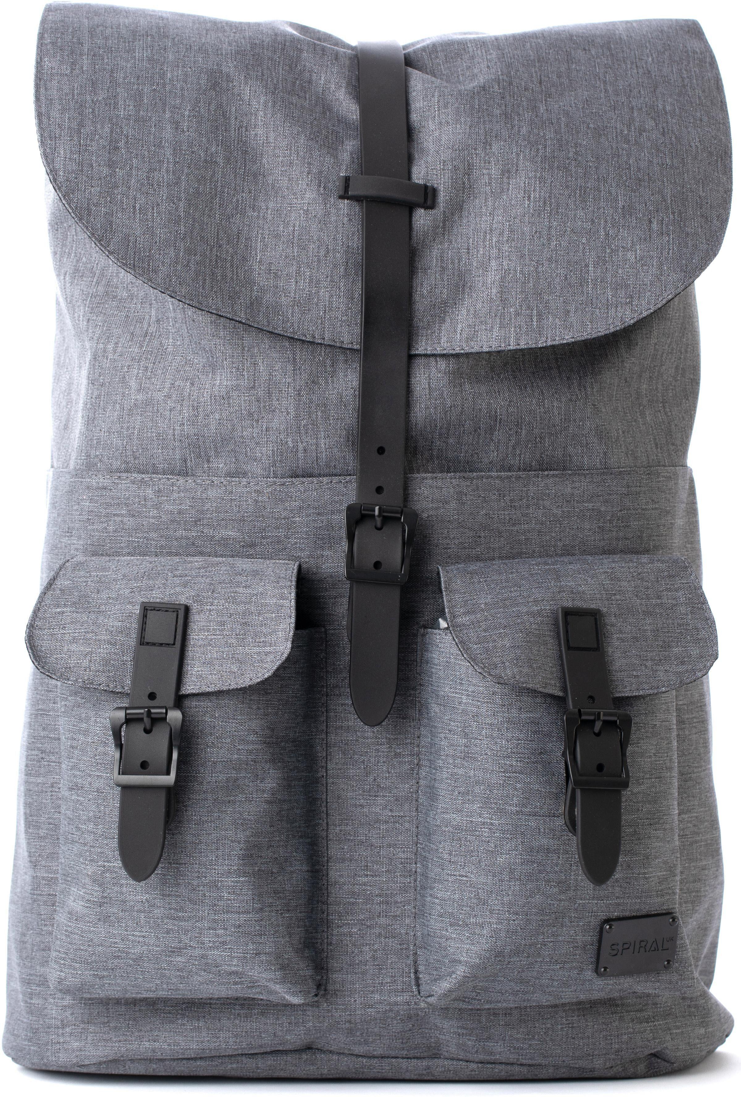 Spiral® Rucksack mit Laptopfach, »NoMad, Crosshatch Charcoal Black«