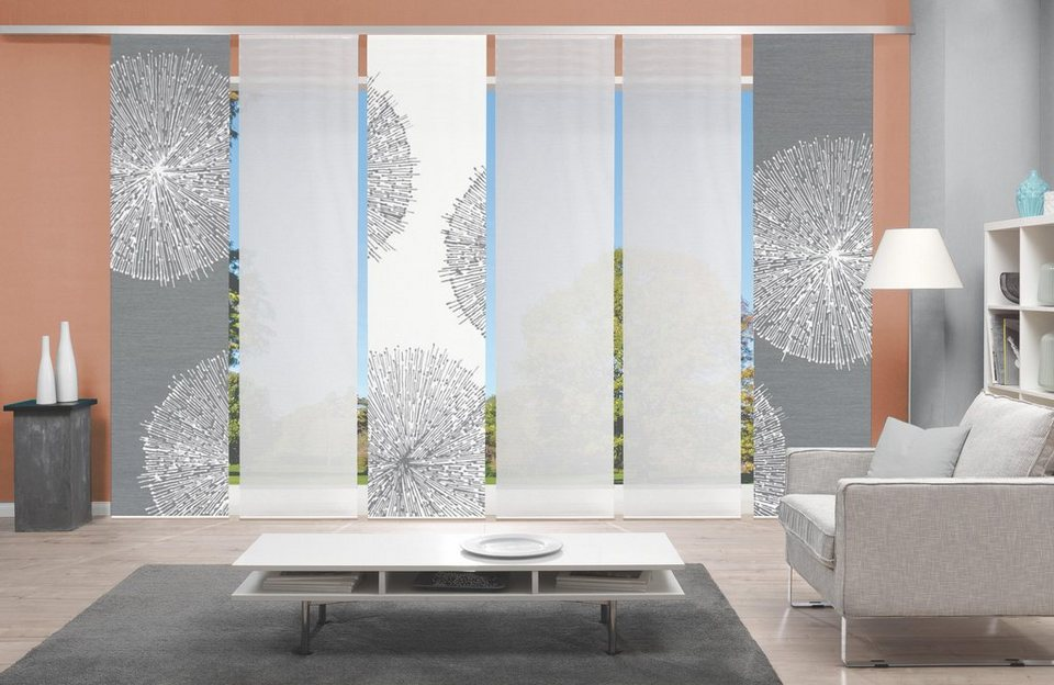 schiebegardine 5er set croston vision s paneelwagen 5 st ck schiebevorhang 5er set. Black Bedroom Furniture Sets. Home Design Ideas